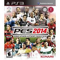 Jogo Semi Novo Pro Evolution Soccer 2014 Pes 14 Pra Ps3