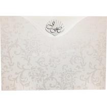 25 Convites Casamento Horizontal Floral 15 X 21 Cm. Promoção