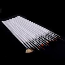 Kit 15 Pincéis Pincel Proficion Unhas Artísticas Nail Art
