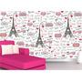 Papel Parede Adesivo Paris Infantil França Torre Eiffel M61