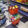 Carro Para Compras Supermercado Com Cestos Removiveis