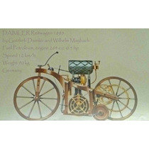 Lienzo Tela Poster Motocicleta Daimler Alemania 1885 50 X 75