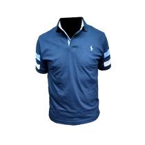 Chomba Polo Con Recorte Promo X3 - Azzurra