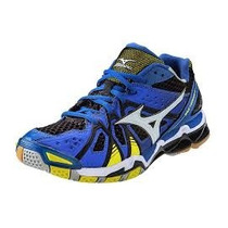 Tenis Mizuno Tornado 9 Azul Para Voleibol, Handball, Gym