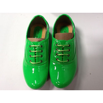 Zapatos Bolicheros Talla 38 Color Verde Es Talla Normal