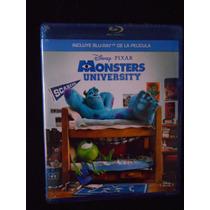 Monsters University Bluray Disney Pixar Nuevo Y Sellado