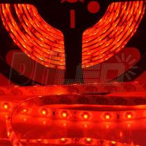 Fita Led Vermelha 12v Ip65 Smd3528 - Rolo Com 5 Metros