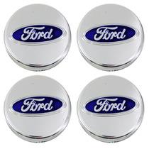 Kit Calotinha Centro De Roda Ford Focus Cromado 51mm