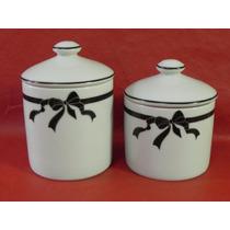 Kit Higiene Porcelana Banheiro Porta Algodão Cotonete Bebe