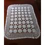 Gran Carpeta Antigua Tejida Al Crochet Impecab. 85 X 65 Cms.