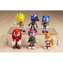 Sonic Bonecos Miniaturas Sonic 6 Peças! Tails Knuckles Sonic