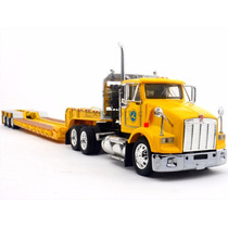 1:53 Tractocamion Kenworth T800 Trailer Lowboy Metalico