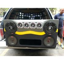 Cajón Turbo Con Cvx15 Y Medios Lanzar 8 De 500