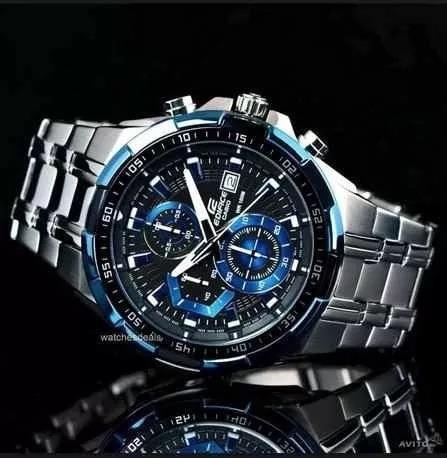 e9b269471e0 Relógio Casio Masculino Edifice Ef-539 Preto Azul Original - R  206 ...