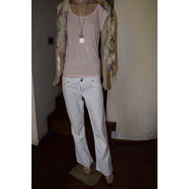 Rosh Pantalon De Jean Color Blanco Promo