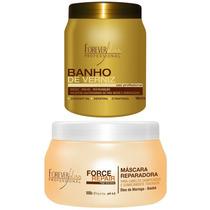 Banho De Verniz 1kg+ Máscara Force Repair 500g Forever Liss