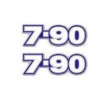 Par Emblema Resinado 7-90 Caminhão Lateral Volkswagen 790