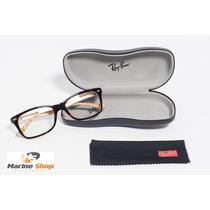 Óculos Ray-ban Original Acetato Rb5228 Marrom - P/ Grau