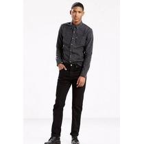 Levis 505 Regular Fit Jeans Hombre W34 L34 Negro Original