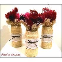 Centro De Mesa Rustico Flores Secas, Eventos, Casamientos