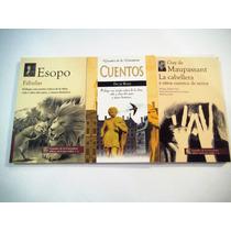 Paquete 3 Libros Fabulas Esopo Cuentos O.wilde La Cabellera