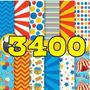 Kit Scrapbook Digital Papéis Circo Palhaços + 3400 Imagens!!