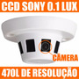 Camera Camuflada No Detector Sensor De Fumaça Ccd Sony Cftv
