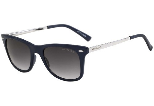 6d4377e1c8b95 Óculos De Sol Feminino - Atitude At 8003 - Quadrado   Azul - R  199,00 em  Mercado Livre