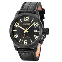 Relógio Magnum Ma33424p Esportivo Pulseira De Couro