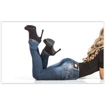 Calças Jeans Feminina Cós Médio Atacado Kit C/10