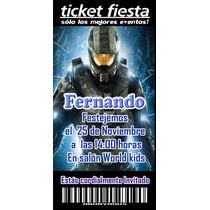 Halo Invitaciones Ticket Producto Personalizado