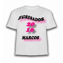 Remera Egresados Sublimada Estampada