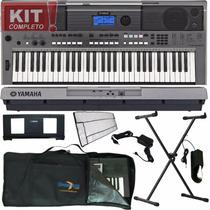 Kit Teclado Psr E443 Yamaha+ Capa+ Brinde+ Fonte S/ Juros