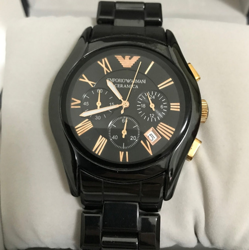 b9d0d48e648 Relógio Emporio Armani Masculino Cerâmica - Ceramic Ar1410 - R  600 ...
