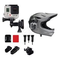 Go Pro Soporte Lateral Casco Moto Bici Adhesivo Accesorios