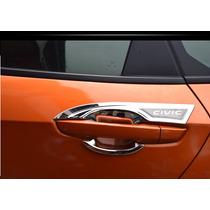 Contornos De Manijas Exteriores Con Logo Honda Civic 2016