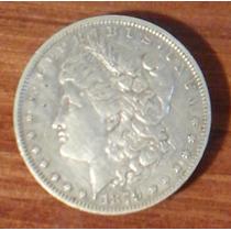 Moneda De Un Dolar Morgan De Plata ( Gran Tamaño ) Buena