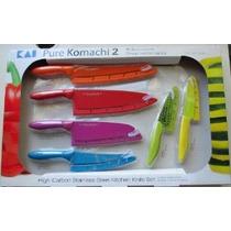 Kai Pure Komachi 2 6-piece Set 6 Cuchillo De Acero Inoxidabl