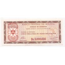 Bolivia Billete De 5000000 De Pesos Bolivianos Año 1985