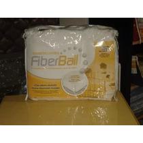 Cubre Colchon Protector Fiberball Ajustable Acolchad 160x200