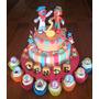 Tortas Decoradas Infantiles Payasos Circo 2kg + Piso Falso