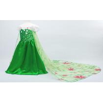 Hermoso Vestidode La Reina Elsa - Frozen Fever