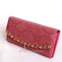 Bolsa Carteira De Couro Feminina Com Strass (rosa)