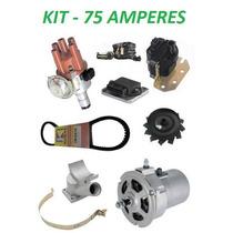 Kit Alternador 75ah +ignição Eletrônica Fusca Brasilia Kombi