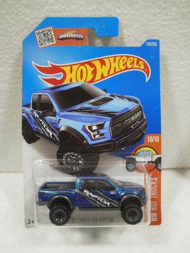 Hot Wheels Camioneta 17 Ford F 150 Raptor Azul 150 250
