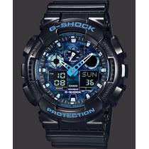 Casio G Shock Ga-100cb-1aer Blue Camouflage Watchito