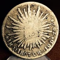 Moneda 1 Real Hermosillo 1867 Muy Escaso Aguila Sonora