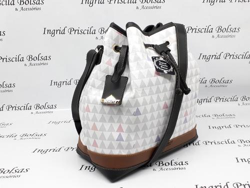 6f90121c9 Bolsa Feminina Saco Schutz Bucket Alça Transversal Branca Vh - R$ 149,00 em  Mercado Livre