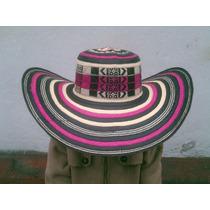 Sombrero Vueltiao Colombiano Color Rosa