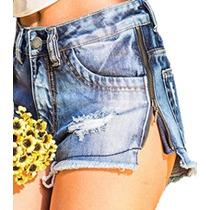 Short Jeans Zíper Lateral Revanche